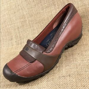 Merrell slip on's brown loafers size 9